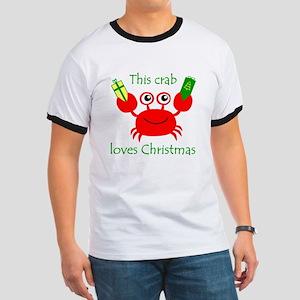 Christmas Crab Ringer T