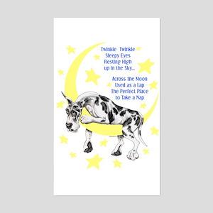 Great Dane Harle Twinkle Rectangle Sticker