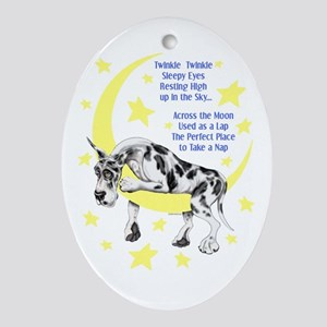 Great Dane Harle Twinkle Oval Ornament
