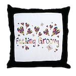 Feeling Groovy Throw Pillow