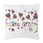 Feeling Groovy Woven Throw Pillow