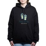 Personalize Flip Flops Women's Hooded Sweatshirt