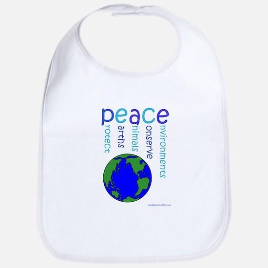Peace On Earth Bib