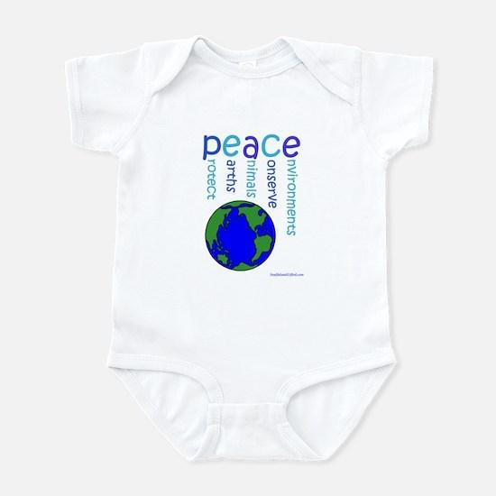 Peace On Earth Infant Bodysuit