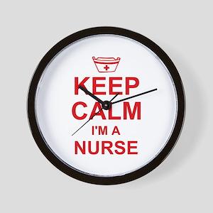 Keep Calm Nurse Wall Clock