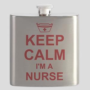 Keep Calm Nurse Flask
