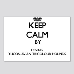 Keep calm by loving Yugos Postcards (Package of 8)