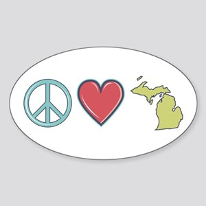 Peace Love Michigan Sticker