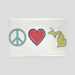Peace Love Michigan Magnets