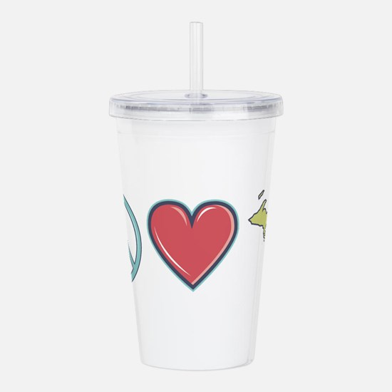Peace Love Michigan Acrylic Double-wall Tumbler