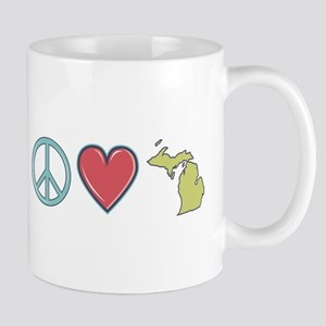 Peace Love Michigan Mugs