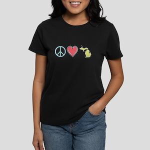 Peace Love Michigan T-Shirt