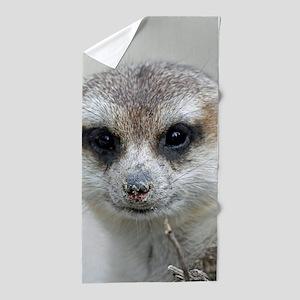 Meerkat001 Beach Towel