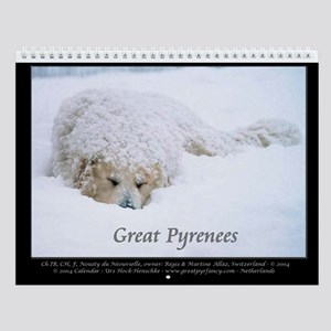 Great Pyrenees Nousty Wall Calendar