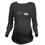 Christmas Snow Long Sleeve Maternity T-Shirt