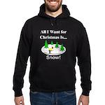 Christmas Snow Hoodie (dark)