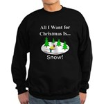 Christmas Snow Sweatshirt (dark)
