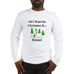 Christmas Snow Long Sleeve T-Shirt