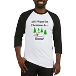 Christmas Snow Baseball Jersey