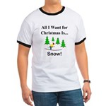 Christmas Snow Ringer T