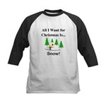 Christmas Snow Kids Baseball Jersey