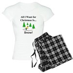 Christmas Snow Women's Light Pajamas