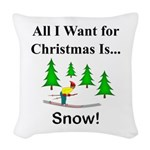 Christmas Snow Woven Throw Pillow