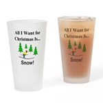 Christmas Snow Drinking Glass