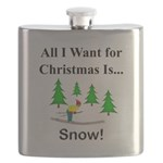 Christmas Snow Flask