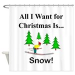 Christmas Snow Shower Curtain