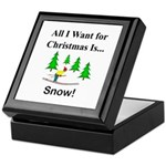 Christmas Snow Keepsake Box