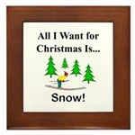 Christmas Snow Framed Tile