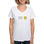 Christmas Happiness Women's V-Neck T-Shirt