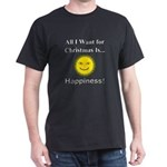 Christmas Happiness Dark T-Shirt
