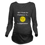 Christmas Happiness Long Sleeve Maternity T-Shirt