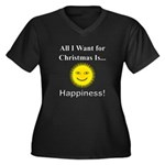 Christmas Ha Women's Plus Size V-Neck Dark T-Shirt