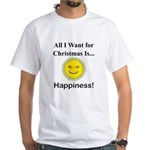 Christmas Happiness White T-Shirt