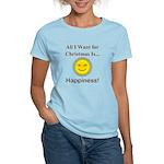 Christmas Happiness Women's Light T-Shirt