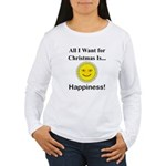 Christmas Happiness Women's Long Sleeve T-Shirt