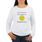 Christmas Happiness Women's Long Sleeve T-Shirt