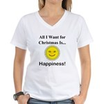 Christmas Happiness Women's V-Neck T-Shirt