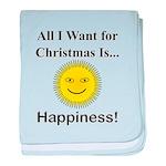 Christmas Happiness baby blanket