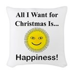 Christmas Happiness Woven Throw Pillow