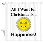 Christmas Happiness Shower Curtain