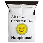 Christmas Happiness Queen Duvet