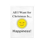 Christmas Happiness 5'x7'Area Rug