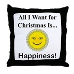 Christmas Happiness Throw Pillow