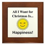 Christmas Happiness Framed Tile