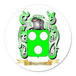 Haggstrom Round Car Magnet