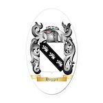 Hagger Oval Car Magnet